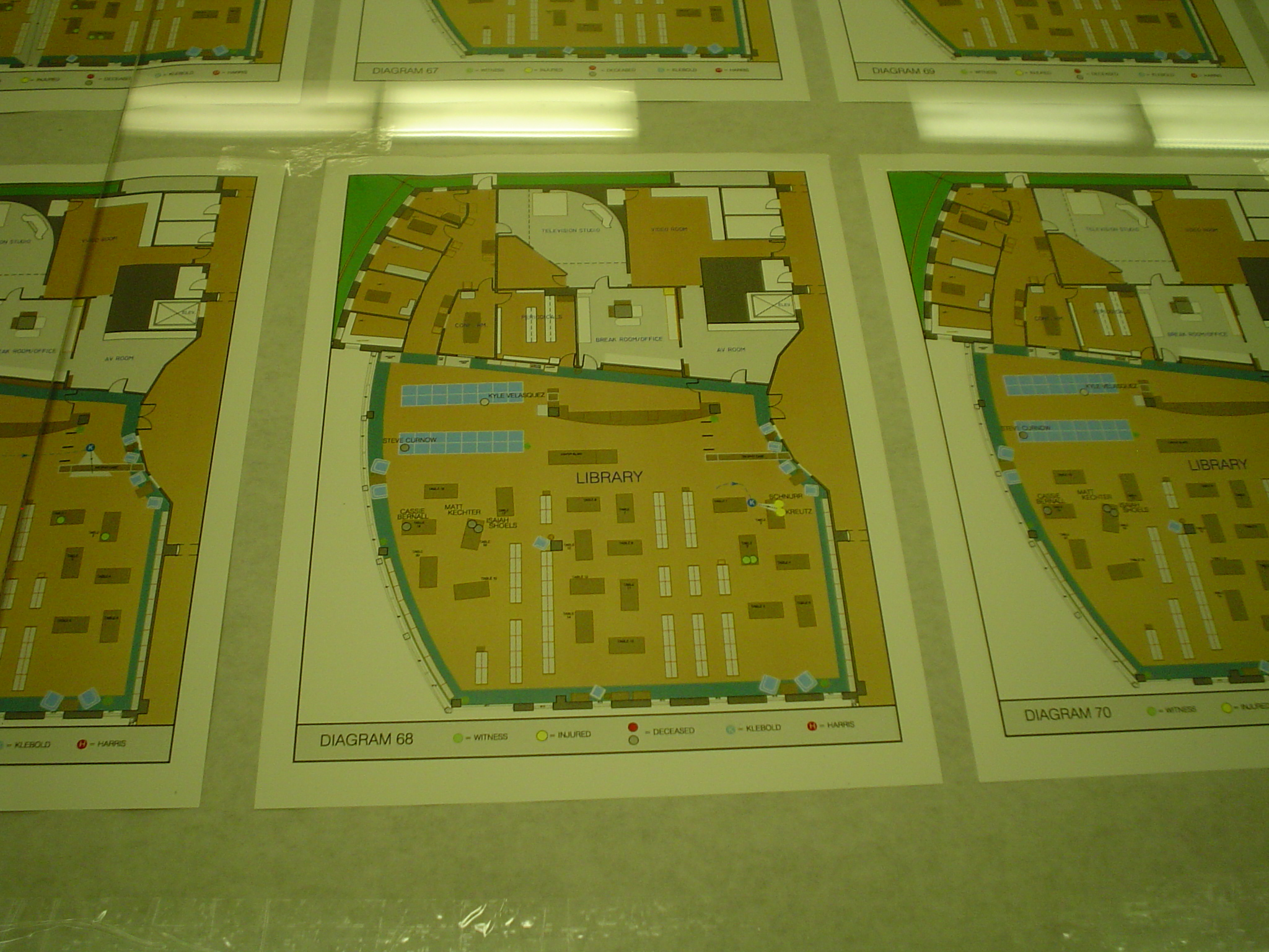 Scale model of library crime scene