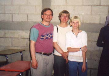 Tom, Linda & Christie in completed elementary school