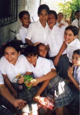 School kids in San Ixtan